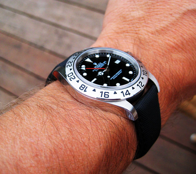 Rolex Explorer 2 No Cyclops And Canvas Strap Loving The Look